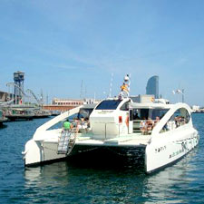 Barcelona tour Catamarà ecològic Eco Slims